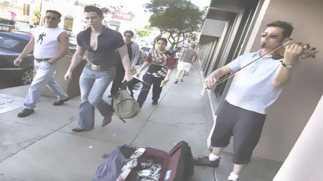Street playing Ben Barnes