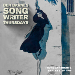 Every Thursday night at Farley's I introduce a song writer friend. We usually play two sets between 6pm and 10pm with warm-ups in between. Come on down and join us!
